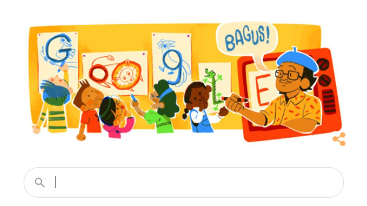 Mengenang Sosok Tino Sidin dalam Google Doodle