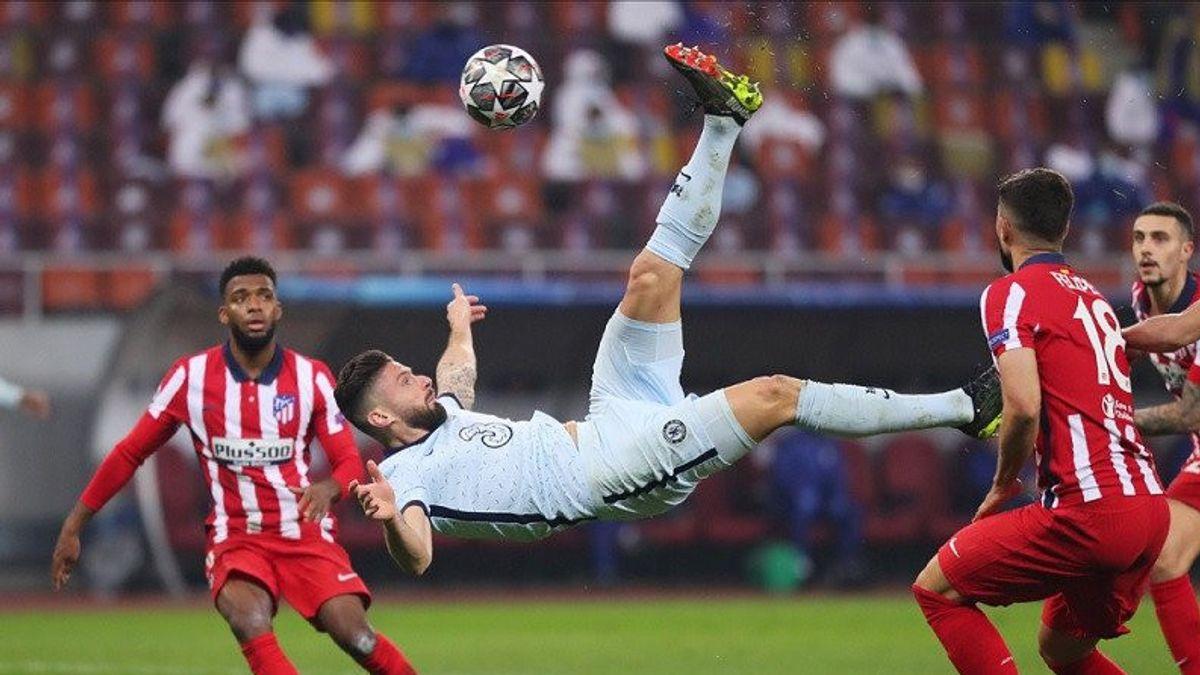 هدف جيرو البهلوانية يختم مباراة أتلتيكو أمام تشيلسي