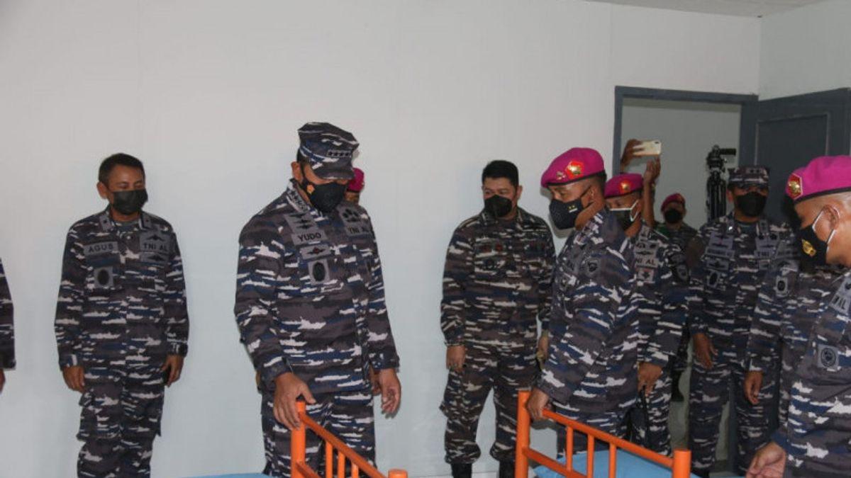 KSAL Tinjau Kesiapan Pangkalan Marinir Jadi RS Darurat COVID-19