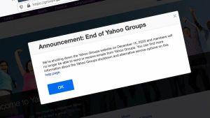 Yahoo Groups Resmi Ditutup