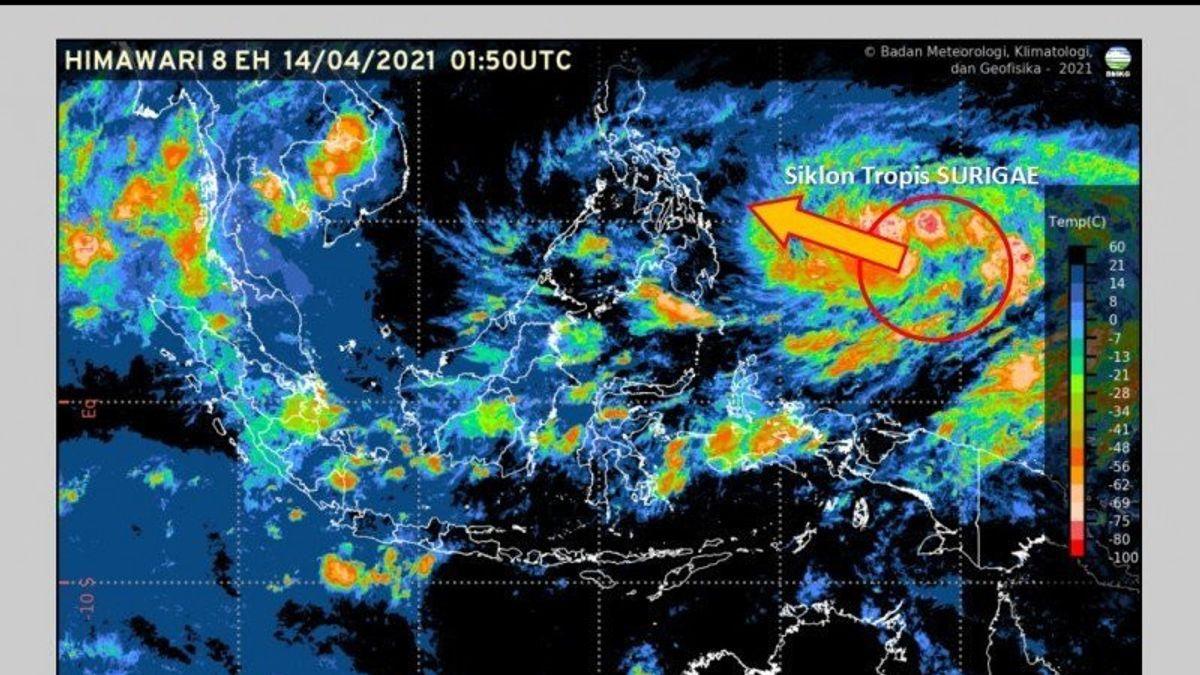 BMKG: Siklon Tropis Surigae Melemah 24 Jam ke Depan