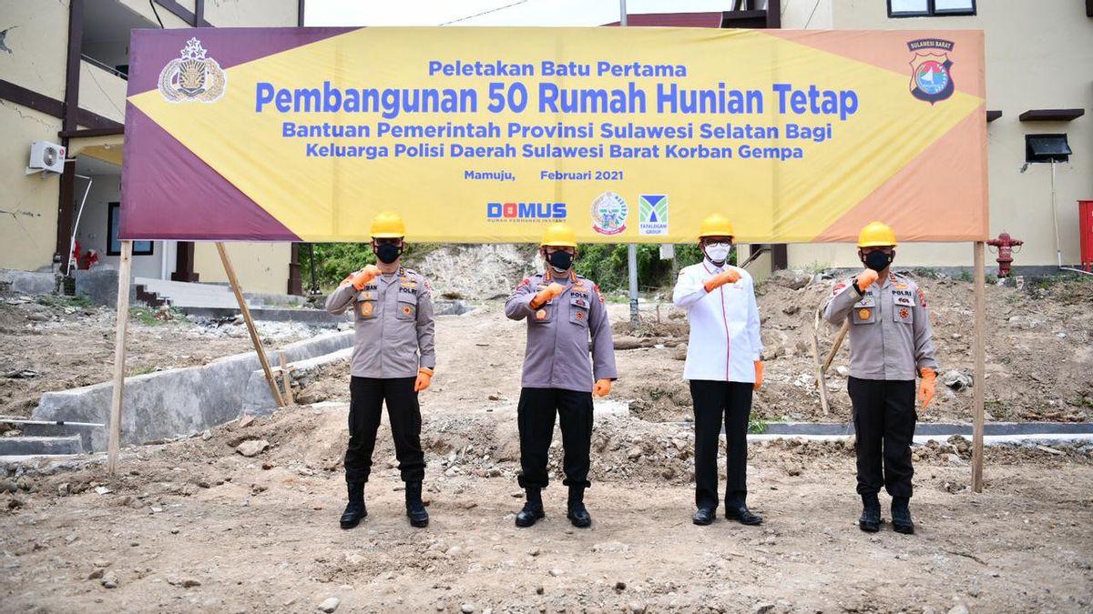 Gubernur Sulsel Serahkan Bantuan 100 Rumah Hunian Tetap Bagi Korban Gempa Sulbar