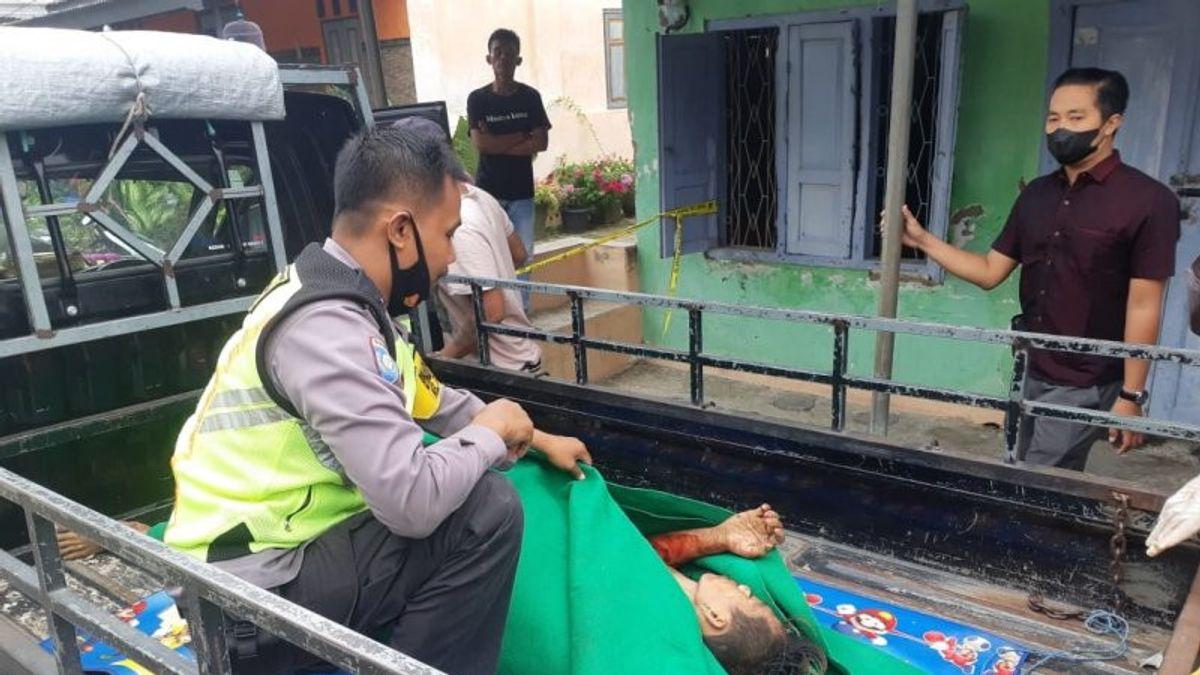 Darah Berceceran, Hafiz Jefri Terbaring Lemah dengan Pisau Dapur di Samping Tubuhnya