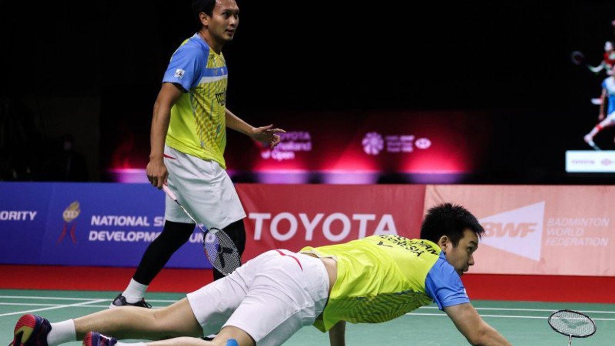 Hendra/Ahsan Terhenti karena Ganda Putra Taiwan di Semifinal Thailand Open