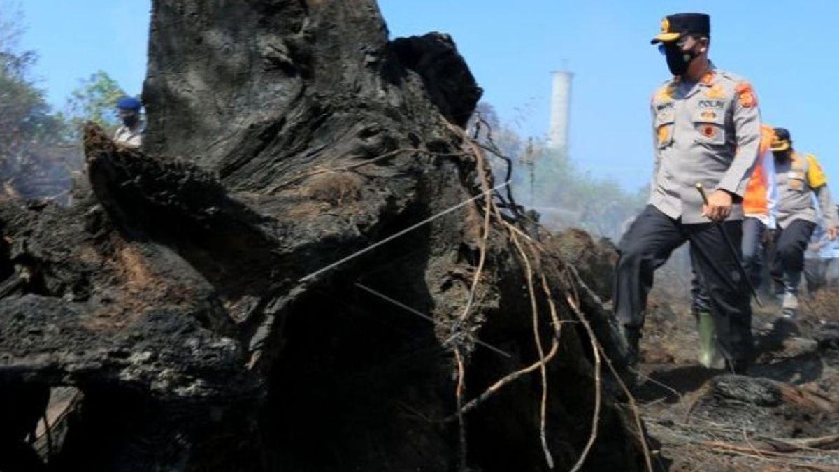 90 في المئة من حرائق الغابات في آتشيه بسبب حرق رئيس الشرطة: سأتصرف بحزم