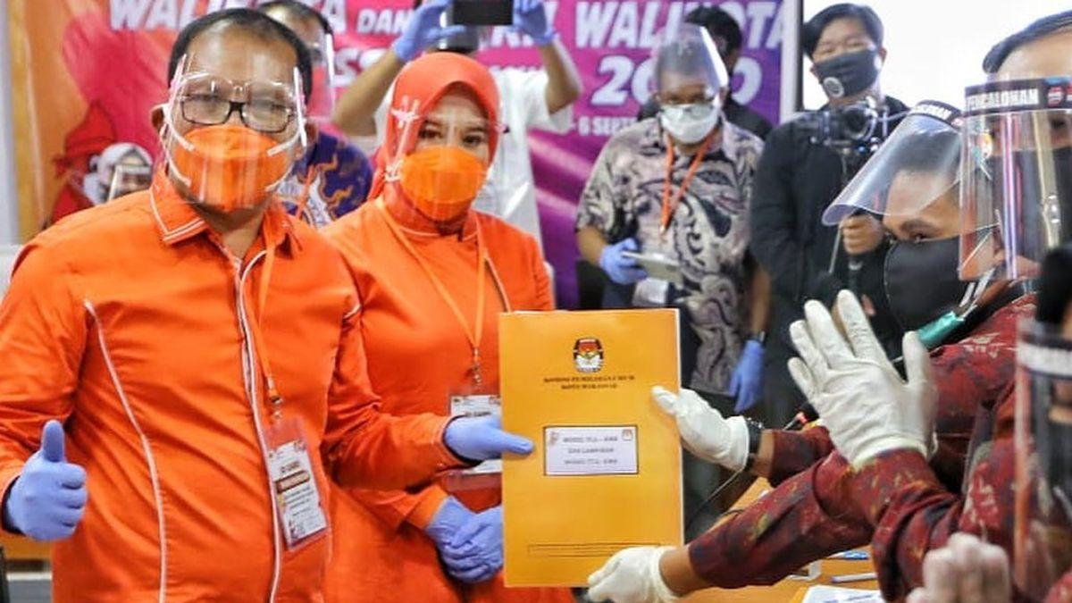 Daftar ke KPU, Danny Pomanto Janjikan Makassar Dua Kali Tambah Baik