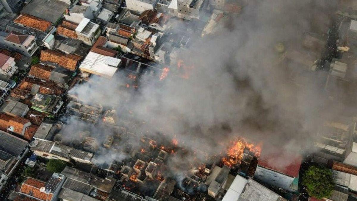 Kebakaran di Taman Sari Hanguskan 112 Rumah Warga