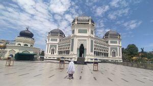 PPKM Darurat, Masjid Raya Al Mahsun Medan Tetap Gelar Salat Iduladha