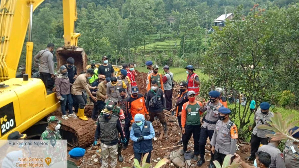 Longsor Nganjuk, 10 Orang Masih Dalam Pencarian