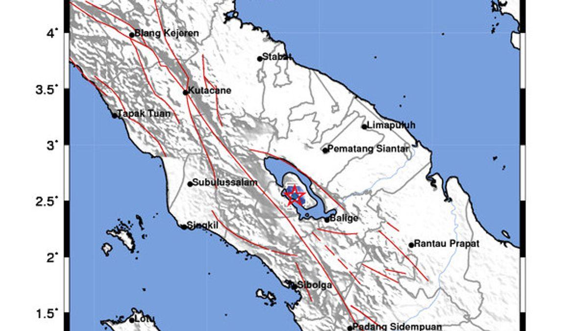 Gempa Terjadi di Ternate, Selisih 1 Menit Menyusul Gempa Samosir