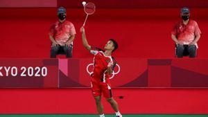 Ginting Menangi Laga Perdana di Penyisihan Grup J Olimpiade Tokyo