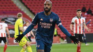 Bikin Gol Pembuka dan Penutup, Lacazette Bantu Arsenal Gulung Sheffield United 3-0